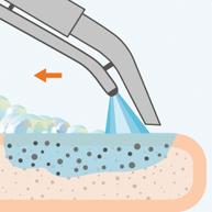 Моющий состав разрушает загрязнение