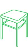 Хичистка стула без спинки