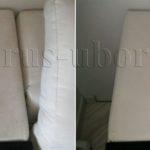 Химчистка углового элемента дивана