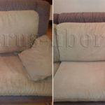 Химчистка дивана-книжка до и после
