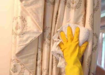 влажная чистка штор