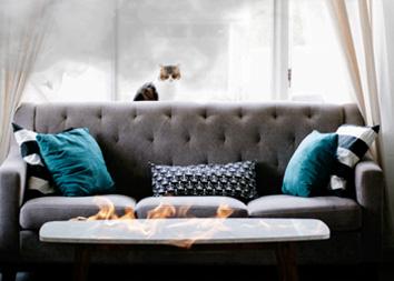 Чистка мебели после пожара