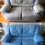 Химчистка голубого дивана