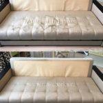 Химчистка бежевого дивана
