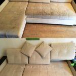 Химчистка дивана с подушками