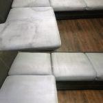 Химчистка углового серого дивана