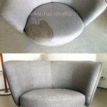 Химчистка серого кресла