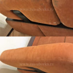 Химчистка рыжего дивана
